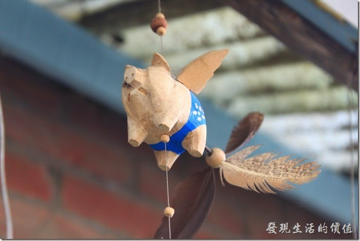 台南-花貓在顧的店。相信這些飛天小豬也是販賣品,沒看見價錢,就隨自己的良心囉!