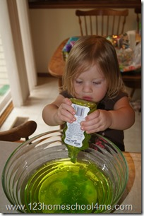 monsters inc slime activity for family fun night