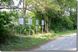 A Group of Four Historical Markers along U.S. Route 50 Loudoun Co. VA