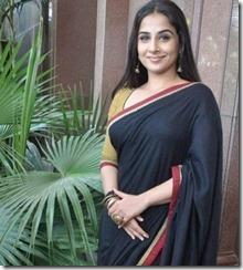 vidhya _in_black saree
