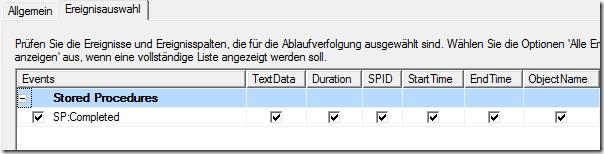 SQLProfiler - Settings