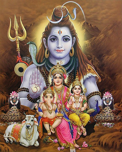 Hindu God Ganesha's Family