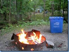 7401 Restoule Provincial Park - evening fire