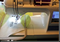 Every mans fantasy is to work with an embroidery machine.