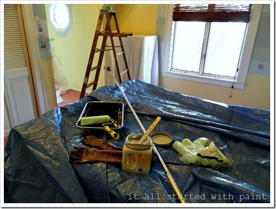 how to paint a vaulted ceiling 2