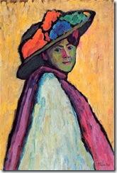 GABRIELE MUNTER Retratode marianne von Werefkin 1909