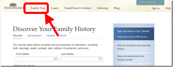 FamilySearch Family Tree