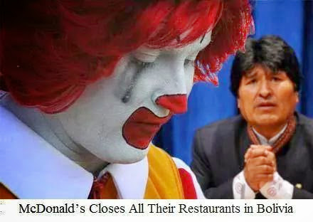 McDonald s Closes All Their in Bolivia