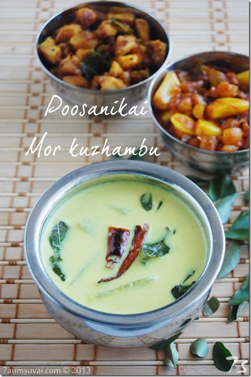 Poosanikai mor kuzhambu / Ash gourd mor kuzhambu