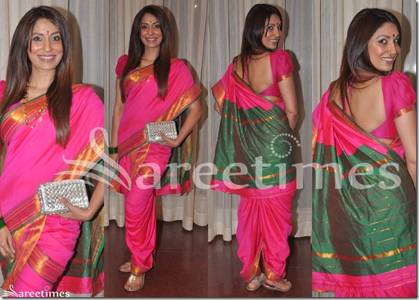 Pink_Marathi_Traditional_Saree