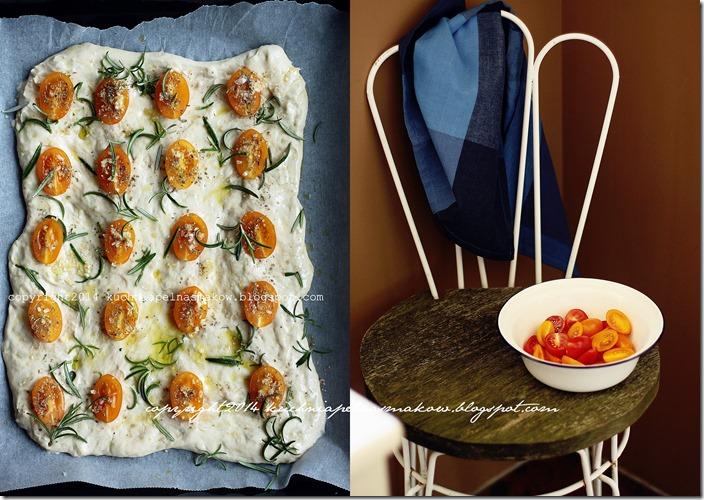 Focaccia z pomidorami, czosnnkiem, rozmarynem i oregano1