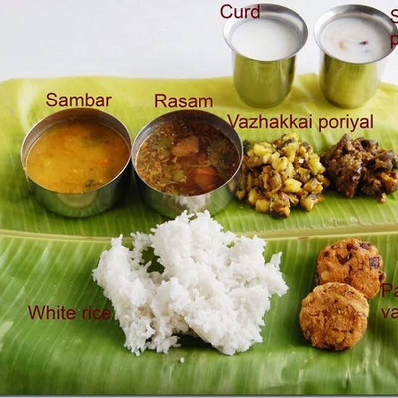 7s meals series - 2 (South Indian meal)