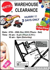 Mattel Warehouse Sale Branded Shopping Save Money EverydayOnSales