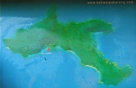 mapa de Koh Wai
