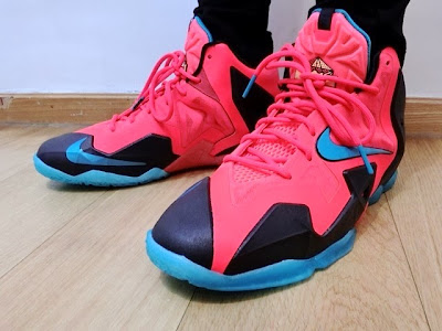 nike lebron 11 gs crimson elite 1 04 Kids Nike LeBron XI GS Styled to Match the Mens Crimson Elite