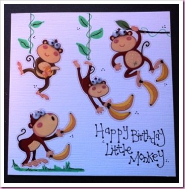 Little Monkey Card 1