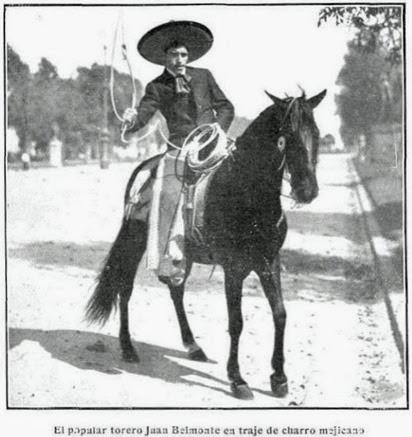 1914-01-14 (p. Mundo Grafico) Belmonte de charro caballista
