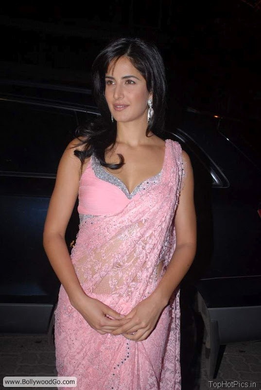 Katrina Kaif Cute Pics in Light Pink Half Saree 1