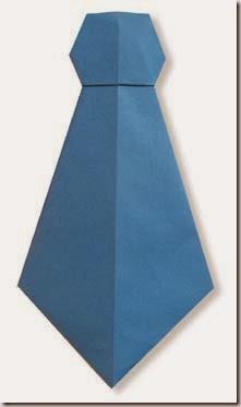 corbata origami diagramas