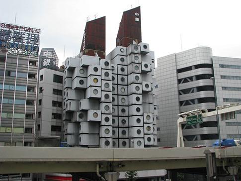 22. Nakagin Capsule Tower (Tokyo, Japón)
