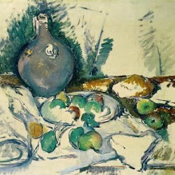 Paul Cezanne (1892-1893):Still Life with Water Jug. Tate Gallery. Londres. Postimpresionismo