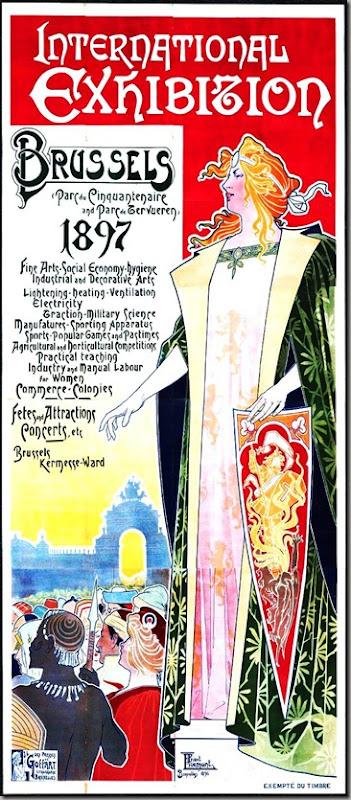 Art-Poster-Art-Nouveau-Travel-Exposition-de-Bruxelles-1910
