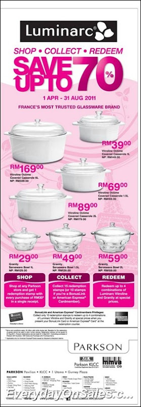 Parkson-Luminarc-Wares-Sales-2011-EverydayOnSales-Warehouse-Sale-Promotion-Deal-Discount