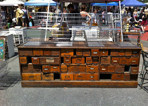 What a great antique! This piece is truly a unique find, and would provide excellent storage.