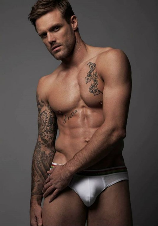 huge bulge in white briefs