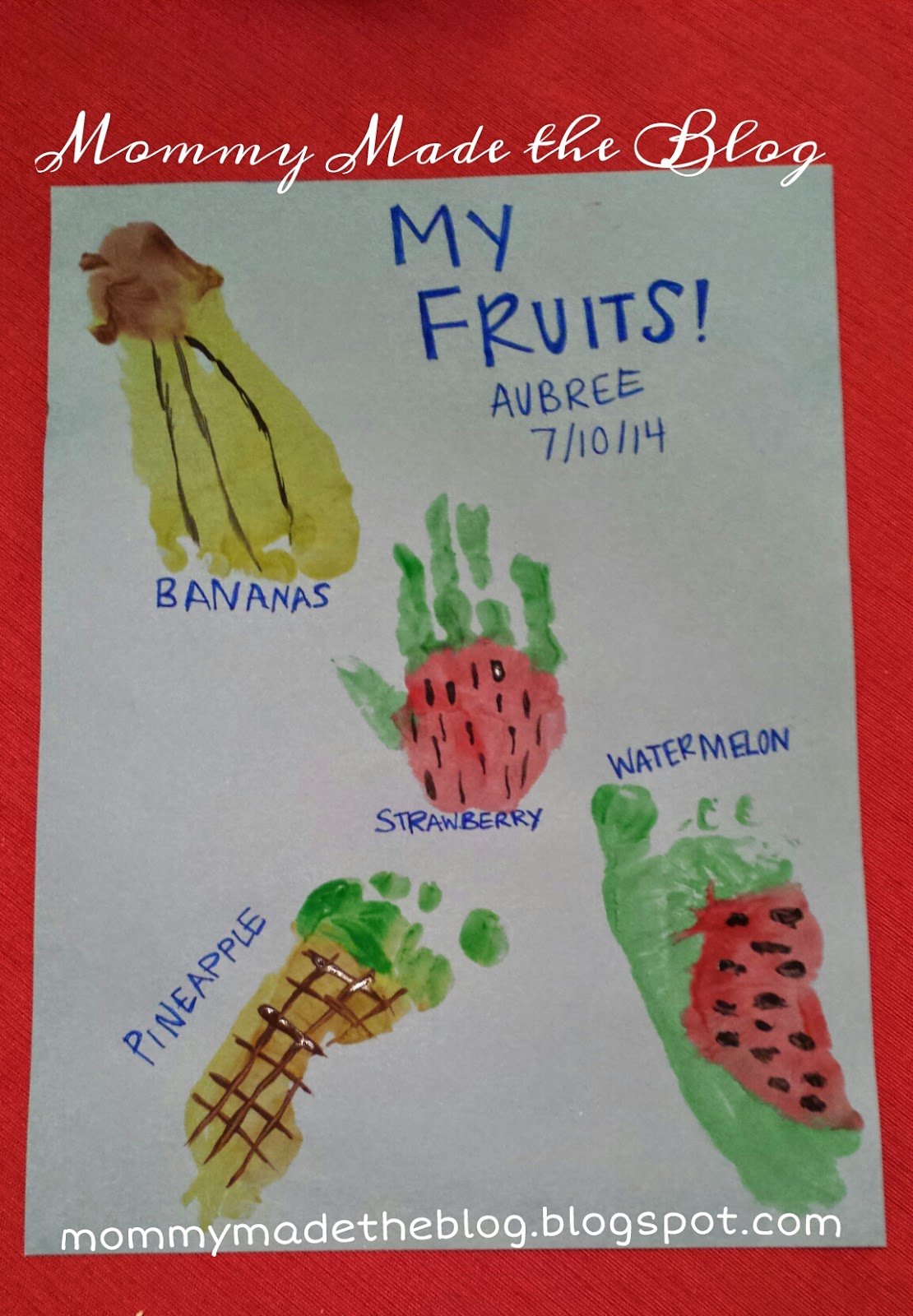 Fruit Hand And Foot Prints