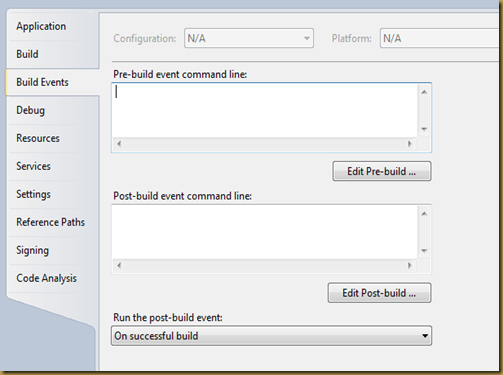 BuildEvent Dialog