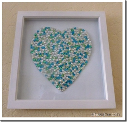 Framed Jewelled Heart