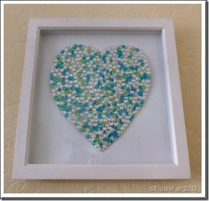 Framed Jewelled Heart