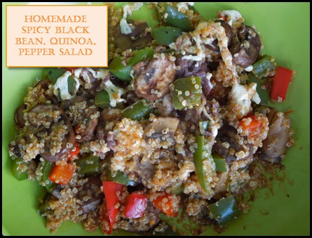 Black Bean, Quinoa, Pepper Salad