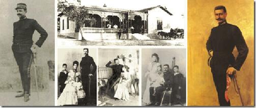 Φωτογραφίες του Παύλου Μελά με στρατιωτική στολή εξόδου σε φωτογραφικά στούντιο και στο σπίτι του.