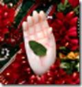 Sita Devi's hand
