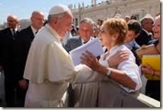 Bild mit Franziskus in Rom