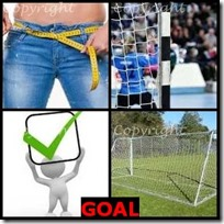 GOAL- 4 Pics 1 Word Answers 3 Letters