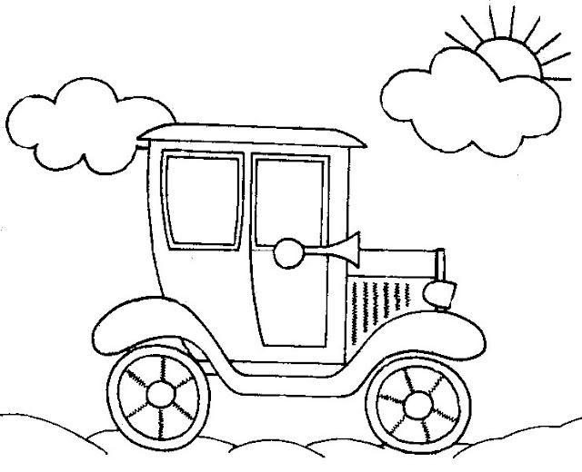 Medios de transporte antiguos para colorear - Imagui