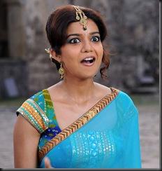 swathi in blue saree