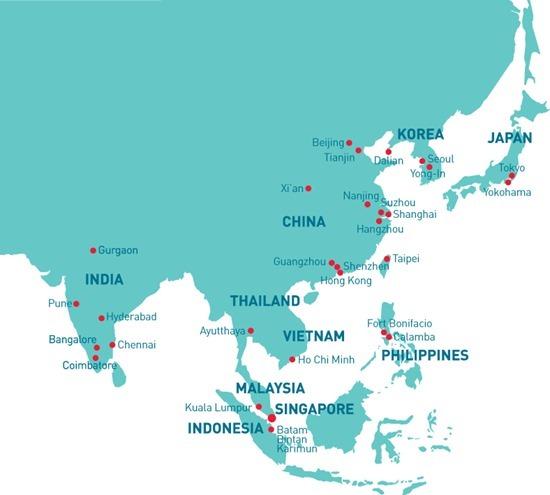 Presence in Asia (English)