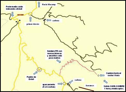 Mont-Rebei - Pared de Aragon - CADE 550m 6c (V  A0 Oblig) Aproximacion
