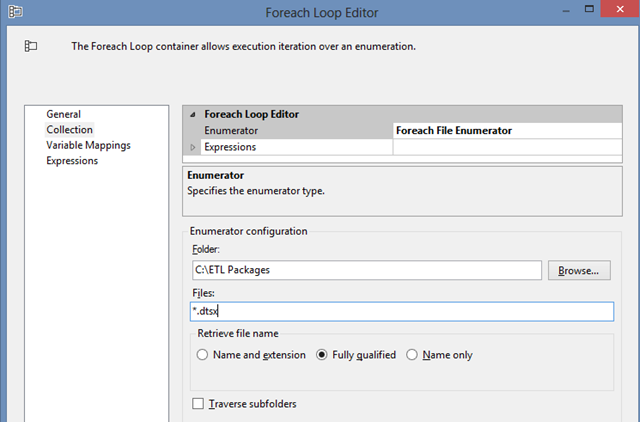 ForEach loop File Enum configuration 01