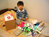 Kai spends a lot of time in his Japanese kindergarten making things from recycling materials
