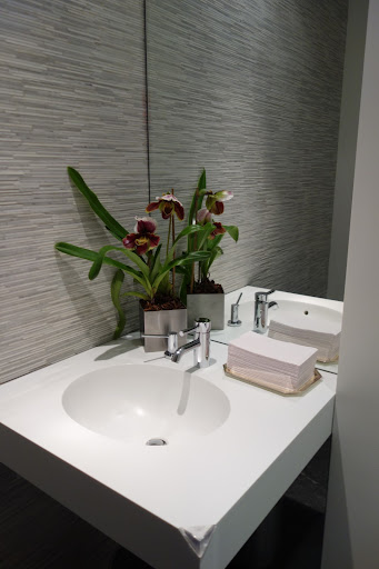 I put lady slipper orchids in all of the bathrooms.