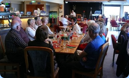More members enjoying the Christmas Party. Photo courtesy of Dennis Lyons