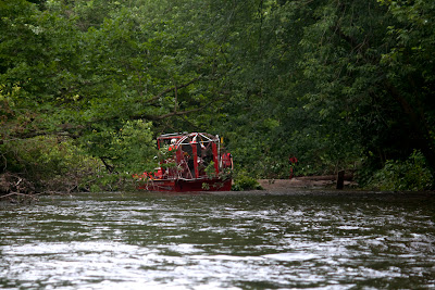 Town of Mahwah's rescue swamp boat. Hope you all feel safe now. Watch out for the prop wash if you ever see this thing.