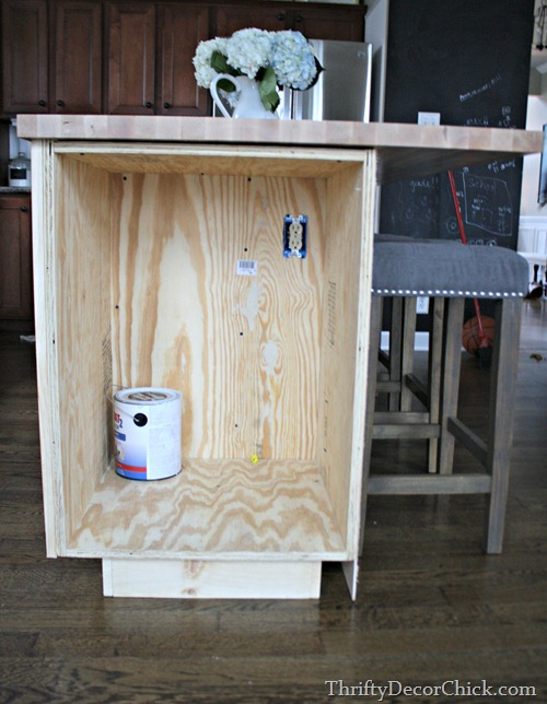 cabinet for microwave in island