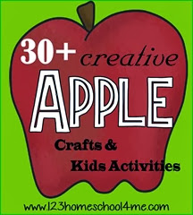 30 creative Apple crafts & kids activities