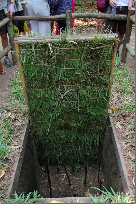 Trap Door at Cu Chi Tunnels, Vietnam